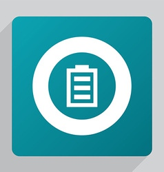flat full battery icon vector image