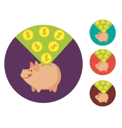 flat piggy bank vector image