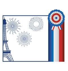 France eiffel tower design vector