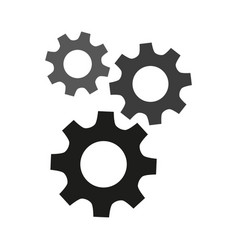 Gears flat icons on white background vector