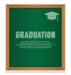 Graduation On Board Education Concept vector