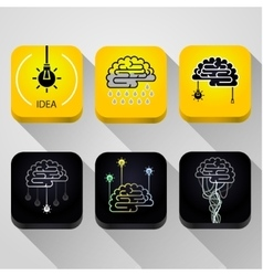 Icons Idea concept vector image