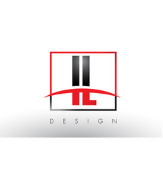 Il i l logo letters with red and black colors and vector