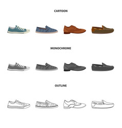 isolated object of man and foot sign collection vector image