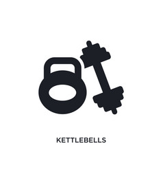 Kettlebells isolated icon simple element from gym vector