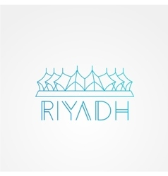 King Fahd - The symbol of Riyadh Saudi Arabia vector