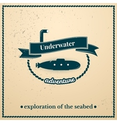 Label submarine exploration of the seabed vector