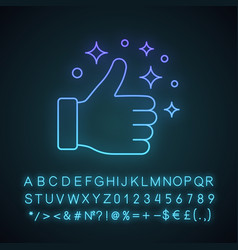 like neon light icon vector image