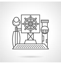 Line icon steering wheel vector