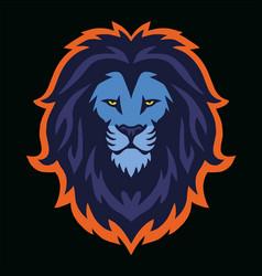 Lion head esport logo mascot design vector