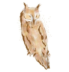 long eared owl vector image