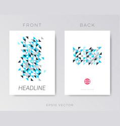 modern brochure mosaic design vector image