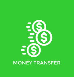 money transfer payments icon vector image