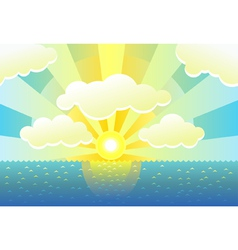 Morning background vector