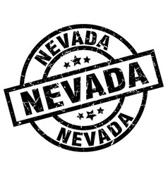 Nevada black round grunge stamp vector