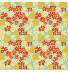 Ornate floral endless color pattern vector image