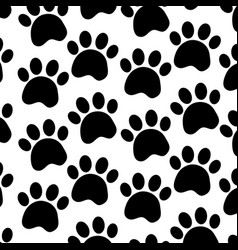 Pet paw animal seamless pattern vector