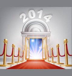red carpet new year door 2014 vector image