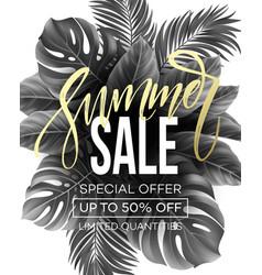 Sale banner handwriting lettering poster floral vector