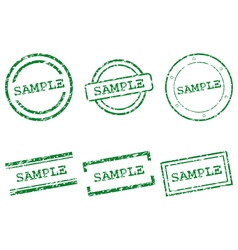 Sample stamps vector