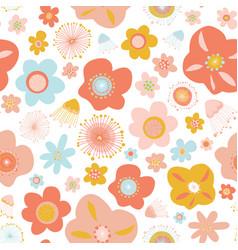 Scandinavian flowers seamless pattern vector