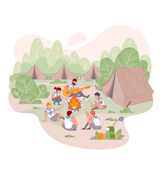 scout camp at summer isolated concept vector image