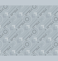 Seamless patterns with abstract ornament vector