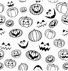 seamless pumpkin pattern halloween vector image