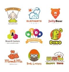 set children goods logos vector image