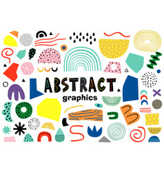 Set isolated abstract elements vector