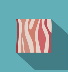 Slice of ham icon flat style vector