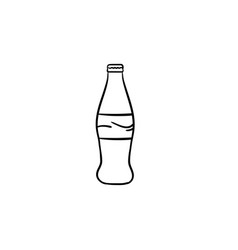 soft drink hand drawn sketch icon vector image