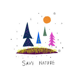 Space planet star save nature vector