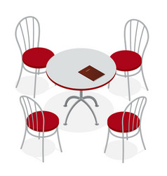 table with chairs vector image vector image