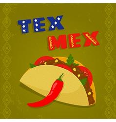 Tex mex taco vector