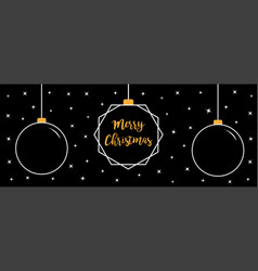 three christmas ball icon set doodle white line vector image