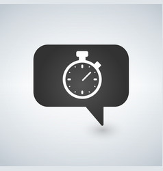 timer sign icon stopwatch symbol information vector image