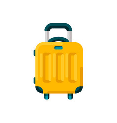 travel suitcase bag or baggage isolated vector image