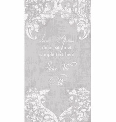 vintage lace ornamented card victorian vector image