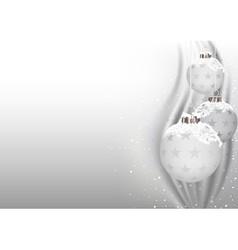 White Christmas Balls vector image
