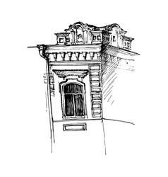 window mansion vector image