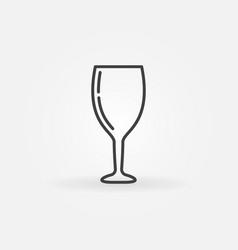 wine glass concept icon vector image