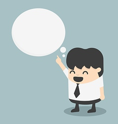 young businessman indicate cloud text vector image