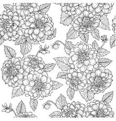 Beautiful monochrome black and white seamless vector
