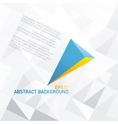 blue arrow with orange accent abstract background vector image vector image
