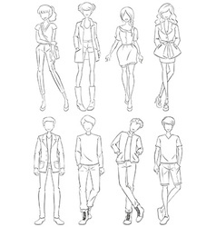 Clothings vector image vector image