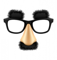funny mask vector image vector image