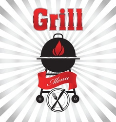 grill 02 resize vector image vector image