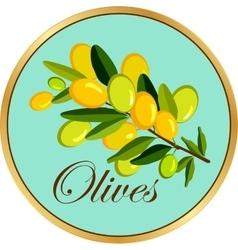 Olive branch badge vector