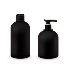 realistic cosmetic bottle mock up set isolated vector image